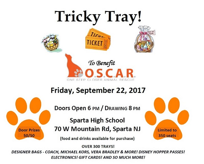 Tricky Tray for Shelter Campaign - OSCAR Animal Rescue in Sparta, NJ